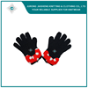 Big Bowknot Logo Winter Knitted Gloves