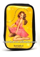 2012 Lovely Pattern Lady PU Cosmetic Bags Cases
