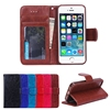 BRG Classic Style Leather Wallet Case With Magnetic Enclose Back Cover Case For iPhone 5/5S Six Color Optional