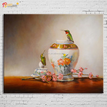 High Quality Hanging love birds Wall Printing Painting