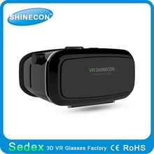 2015 most popular product VR Shinecon vr 3d glasses box 3d xnxx movie glasses hindo professional 3d glasses for blue film video