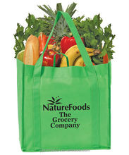 Good Earth Grocery Tote Bag Bottom Insert Included vegetable bag supermarket bags Heavy Duty Reinforced Panels