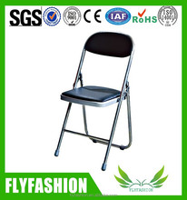 Used folding tables chair/PU Leather chair/Training chair without arm