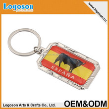 rectangle epoxy Spain souvenir Key ring Bullfighter