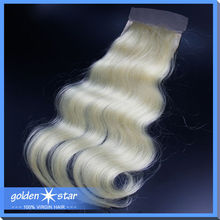 Hot Selling free part #613 Color European Body Wave Lace Closure
