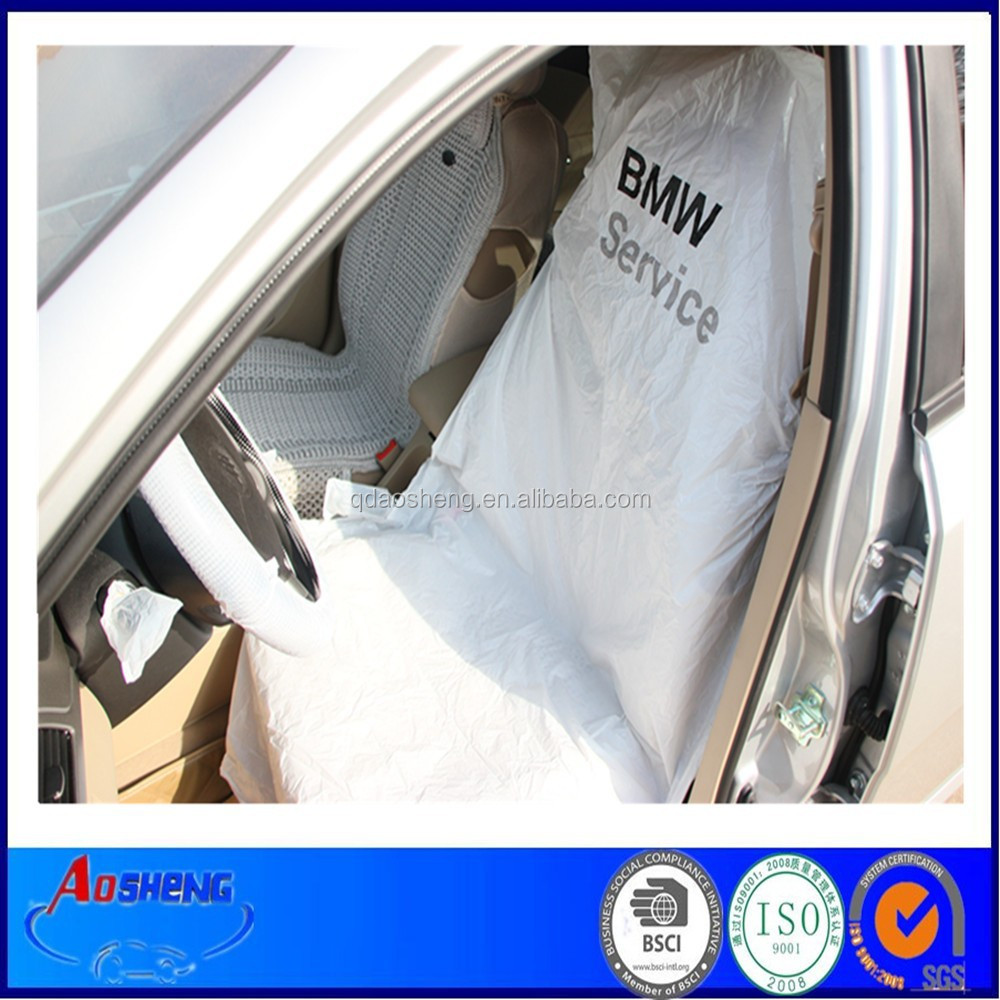 Pe Disposable White Plastic Car Seat Cover On Roll