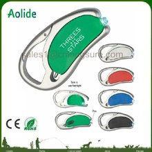 rotatable LED light pen Plastic advertising ballpoint pen LED Carabiner light pen with buckle