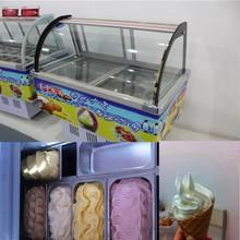 2015 verano doube uso gachas hielo helado vitrina para el supermercado refrigerado supermercado helado para el supermercado