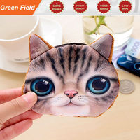 Cat face coin purse custom printing cat face coin purse
