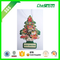 New style 7*9cm little tree shape car scent paper air freshener