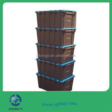 Plastic moving totes for moving company or storage