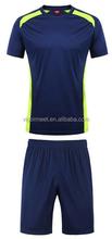New 2016 soccer jersey short sleeve club team football jerseys football team kit blue color