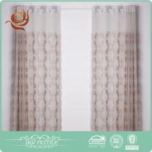Home design Custom Elegant Decorative embroidered organza curtain