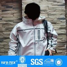 Softshell bond TPU membrane coated polar fleece jacket fabric