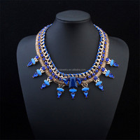 2015 fashion vintage choker collar necklace statement crystal necklace for women