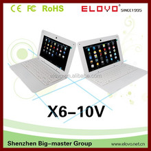 """widely-used Android netbook computer front webcam 10""""notebook VIA WM8850 factory direct sale Android laptop 1GB/4GB mini netbook"""