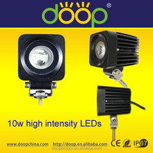 OEM chinese motorcycle accessory 10w super bright led working light, Square 10W led work light headlight