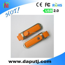 wholesale free sample 8gb leather flash usb drive