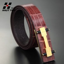 Copper buckle branded leather man/women belt 33mm fashion genuine leather belt