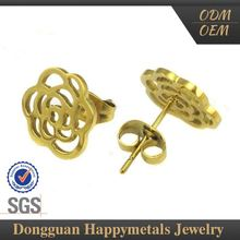 Hot Sell High Standard Oem Service Flower Shaped Earrings