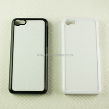 2D blank sublimation case for iphone 5c, plastic hard snap-on case, black and white color