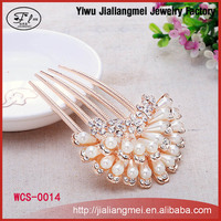Chinese Manufacture Antique Crystal Wedding Metal Hair Comb