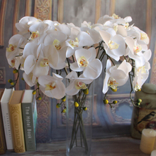 GNW white artificial latex flowers bulk silk orchids for sale names of flowers used for wedding decoration