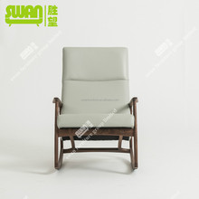 2204 wooden armchair with footrest