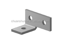 Galvanized angle fitting wit Strut Channel Connector for channel fitting