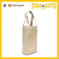 Twin bottle canvas tote wine bag