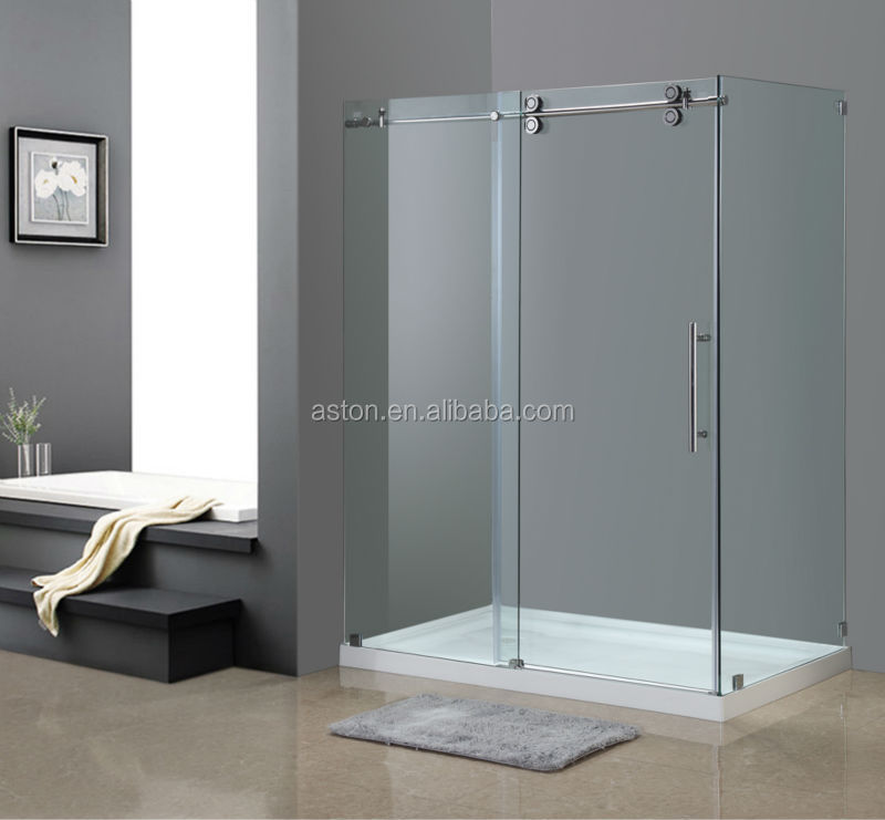 Clear Tempered 2 Sided Glass Frameless Shower Enclosures With Cupc ...