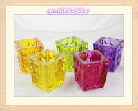2015 Hot Selling Spray Color Glass Candle Holder, Different Size And Color Available, Good For Home Decor, Holiday Gift
