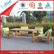 All weather dining table designs, teak wood table rattan outdoor furniture