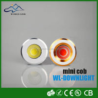 Top quality dimmable new 3W cabinet led cob mini downlight