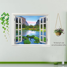 Fashion removable window decor 3d wall decal