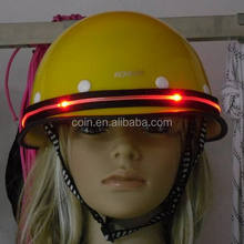 Giant Kids Bicycle Bike Cycling Scooter Skate Protect Mining Safety Helmet With Led Flashing Size 52-56CM