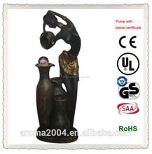 africano figura estátua fonte de água para o jardim e casa