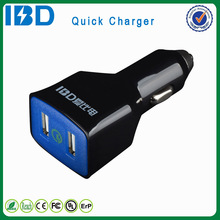For Linux mobile phone, fast charge qc 2.0 dual usb car charger best PC fireproof material charger
