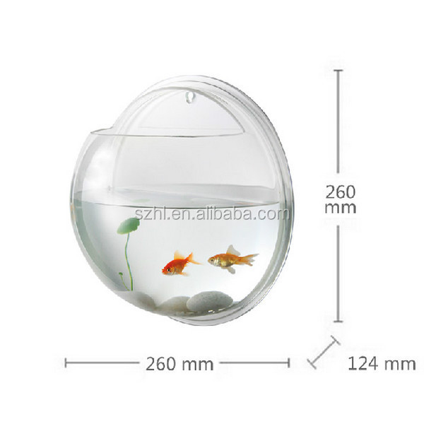 Hemisphere acrylic wall mount fish bowl wholesale buy for Acrylic fish bowl