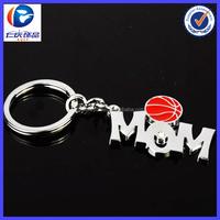 custom handmade promotional metal letter keychain For Basketball