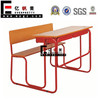 Double Student Desk, School Table and Chairs Set, School Desk and Bench