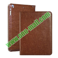 Side Flip Genuine Leather Case For iPad Air With Wake Sleep Function
