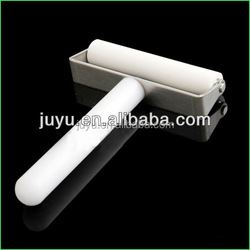 "80mm Anti-static Silicone Rubber Roller LCD Cleanner 3"" White For Pushing Screen Film"