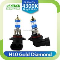 XENCN H10 12V 42W PY20D 4300K Gold Diamond Car Fog Light Golden Tip Bright White Halogen Bulb