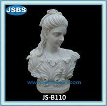 beau blanc en marbre romain statue buste féminin