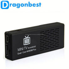 Dragonbest New 2015 best selling android 4.4 android smart tv stick MK808B Plus android tv dongle smart tv stick In stock