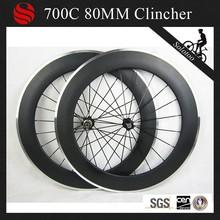 1 an de garantie! Cycle du carbone roues 700c 80m alliage pneu roues carbone