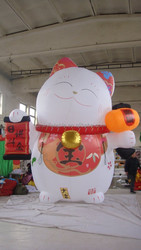 costomized new design inflatable fortune cat,giant inflatable lucky cat