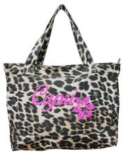 Western fashion custom design standard size canvas leopard silk-screen women tote bag 2015
