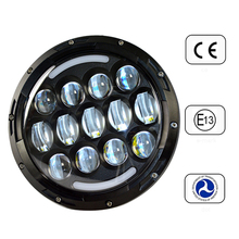 """2015 promotional USA popular for JEEP wrangler headlight 7"""" led headlight Motorcycle with Angel eyes HIGH / LOW Beam"""